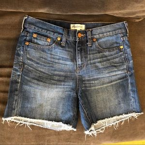 Madewell Raw Hem Denim Boyshorts